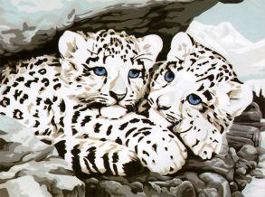 Картина по номерам «Ягуарята» 30x40 см