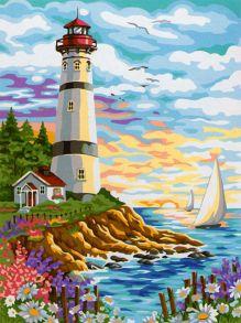 Картина по номерам «Красочный маяк» 40x50 см