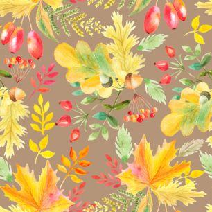 Хлопок Перкаль Осенние ягоды 50х37
