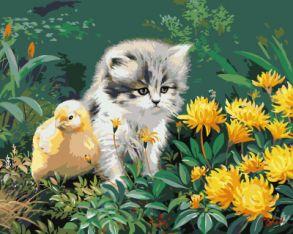 Картина по номерам «Маленькие друзья» 40x50 см