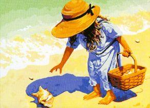Картина по номерам «На пляж, за ракушками!» 40x50 см