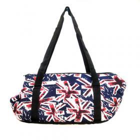 Мягкая сумка-переноска для собак. Британский флаг.