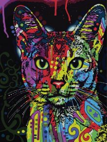 Картина по номерам «Кошка поп-арт» 30x40 см