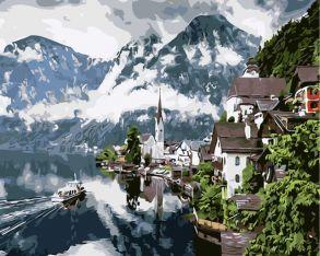 Картина по номерам «Туман над горами» 40x50 см
