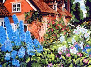 Картина по номерам «Бабушкин садик» 40x50 см