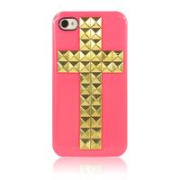 Чехол для iphone 5/5s/se с крестом (розовый)