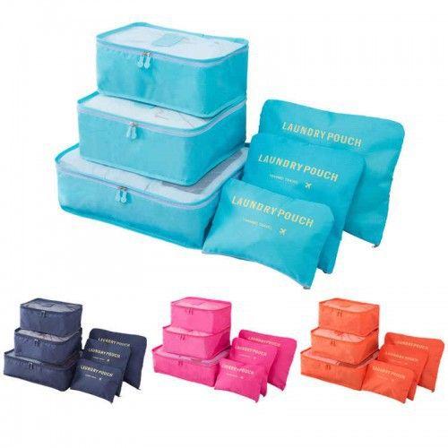 Набор дорожных сумок для путешествий Laundry Pouch, 6 шт