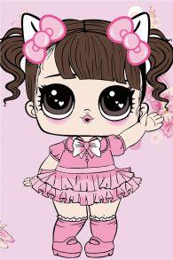 Картина по номерам «Малышка в розовом платьице» 20x30 см