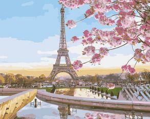 Картина по номерам «Цветущий Париж» 40x50 см