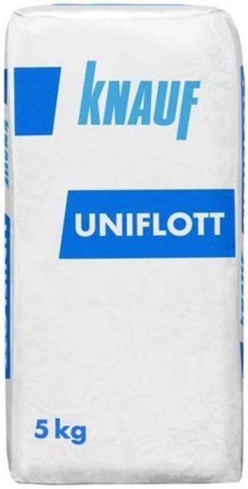 Шпатлевка гипсовая высокопрочная Knauf Унифлот (белая), 5 кг
