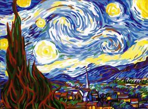 Картина по номерам «Звездная ночь» 40x50 см