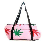 Мягкая сумка-переноска для собак. Листья.