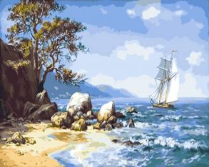 Картина по номерам «Ветер с моря» 40x50 см