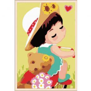Картина по номерам «Мишка Тедди» 20x30 см