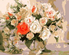 Картина по номерам «Очаровательный букет роз» 30x40 см