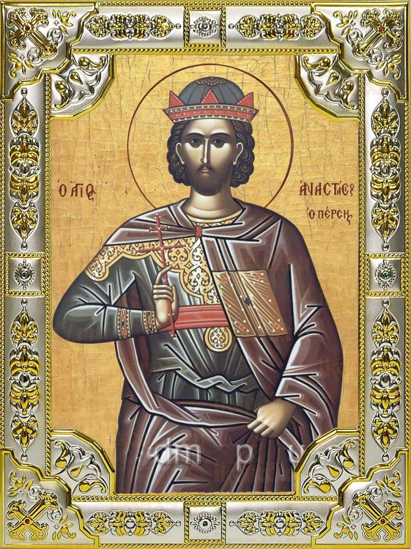 Икона Анастасий Персиянин преподобномученик (18х24)
