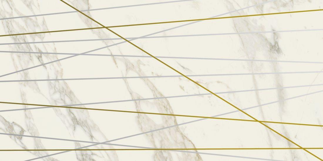 40x80 Шарм Делюкс Арабескато Вставка Голден Лайн