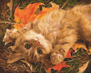 Картина по номерам «Рыжий котенок» 40x50 см