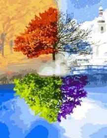 Картина по номерам «Сезоны» 40x50 см