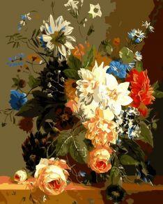 Картина по номерам «Роскошные цветы» 30x40 см