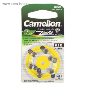 Camelion zincAir A10 1.4 V для слух аппаратов /6/ цена за 1 шт