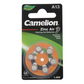 Camelion zincAir A13 1,4 V для слух аппаратов /6/ цена за 1 шт