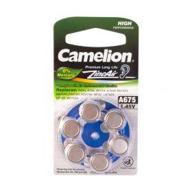 Camelion zincAir A675 1.4 V для слух аппаратов /6/цена за 1 шт