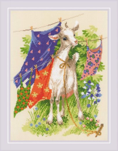 Набор для вышивания крестом Озорная козочка №1891 фирма Риолис