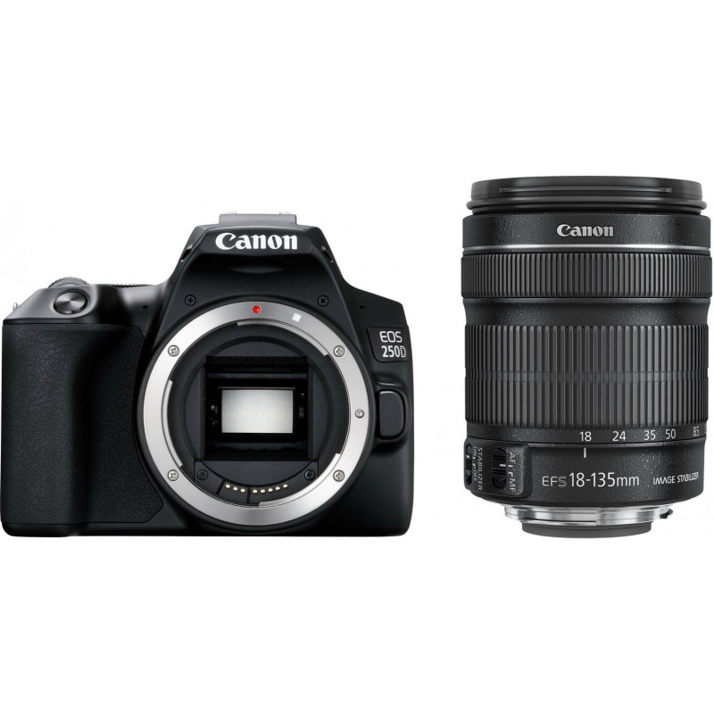 Canon 250d kit  EF-S 18-135mm is