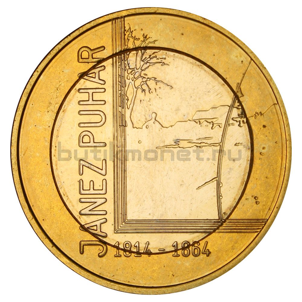 3 евро 2014 Словения 200 лет со дня рождения Янеша Пухара