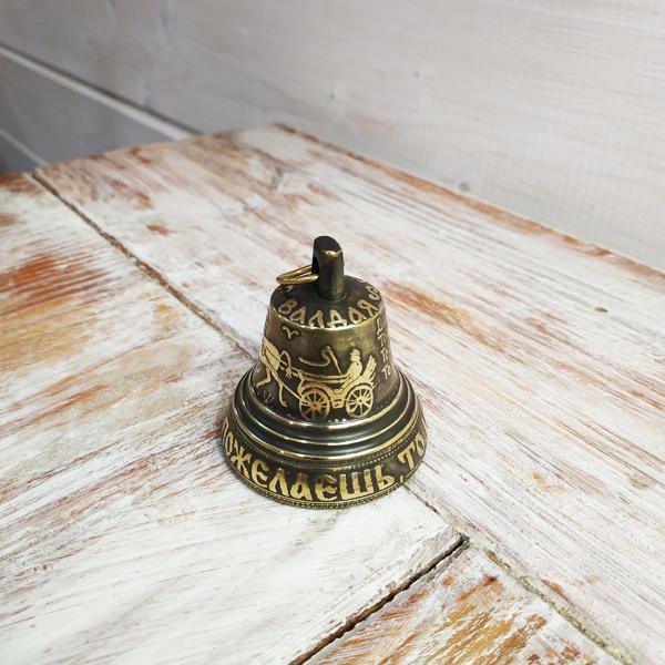 Валдайский колокольчик с гравировкой №4 (Тройка)