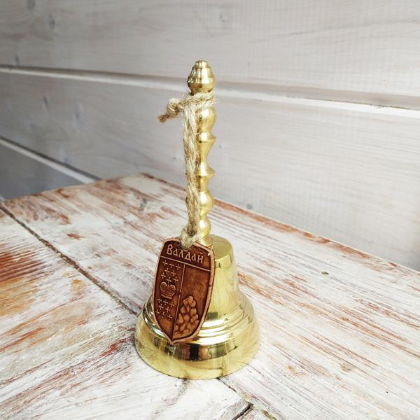 Валдайский колокольчик с ручкой №4 с брелком