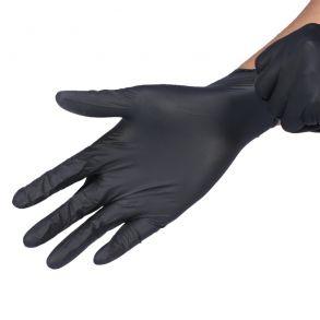 Перчатки нитриловые одноразовые , Черные 2 шт