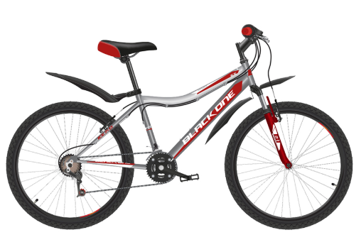 Велосипед BLACK ONE Ice 24 Серый/красный/белый (H000016601)