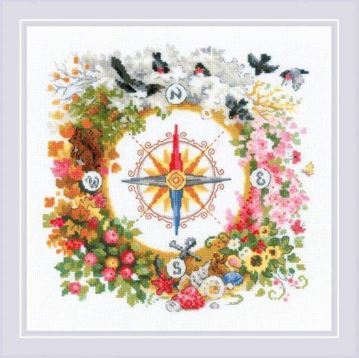 Набор для вышивания крестом Компас №1881 фирма Риолис