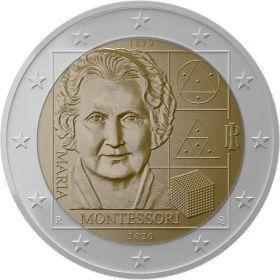 Мария Монтессори 2 евро Италия  2020