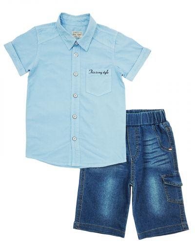 Костюм для мальчика 3-7 лет Bonito OP341 голубой