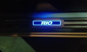 Накладки на пороги Kia Rio с подсветкой (2017-2019г)