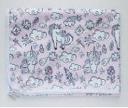 Непромокаемая пеленка Единорог на розовом 74*74