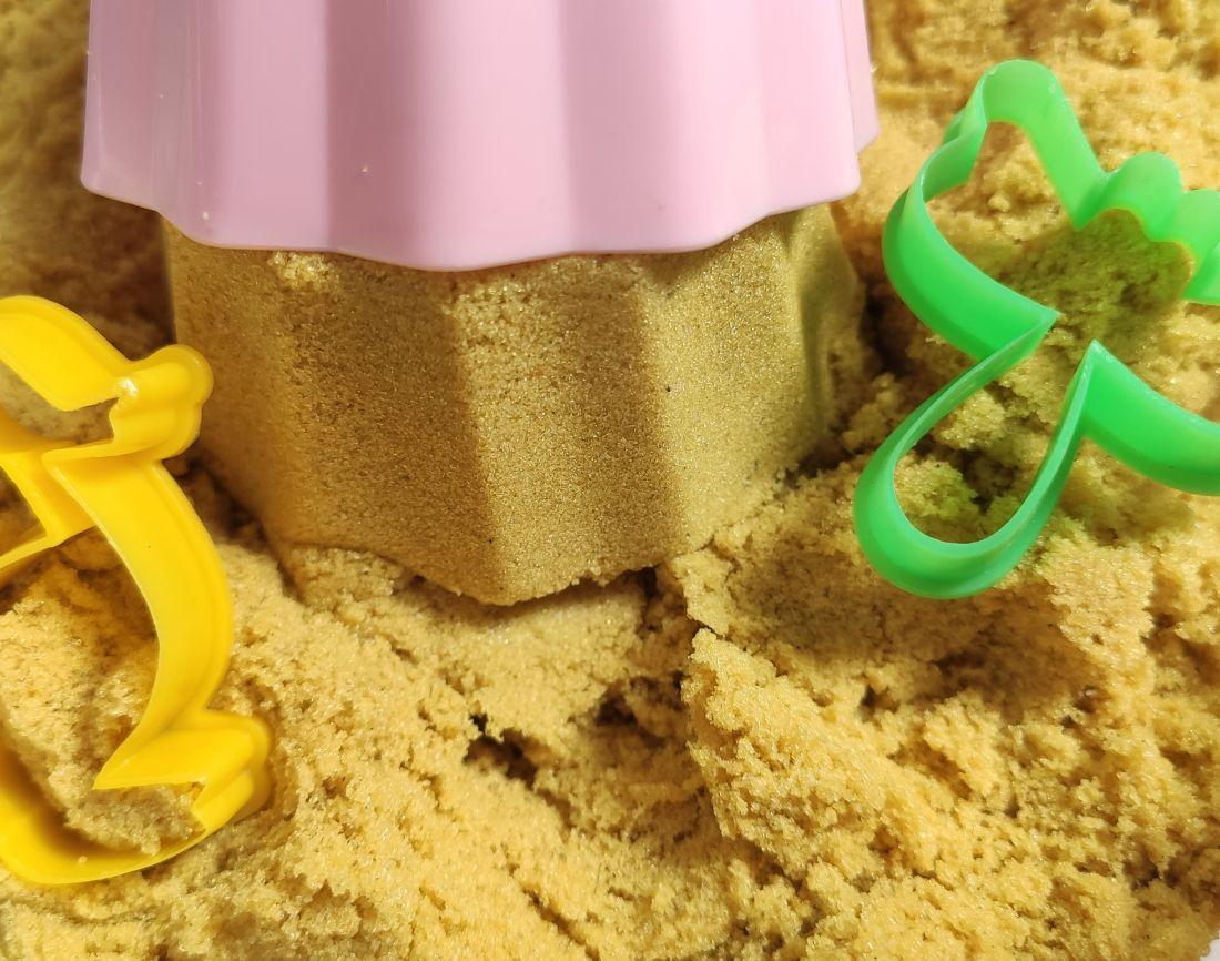 Желтый Кинетический песок 250-500 гр