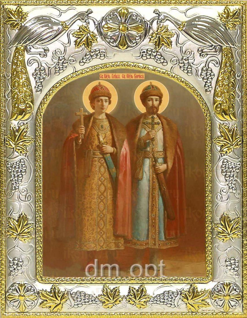 Икона Борис и Глеб благоверные князья (14х18)