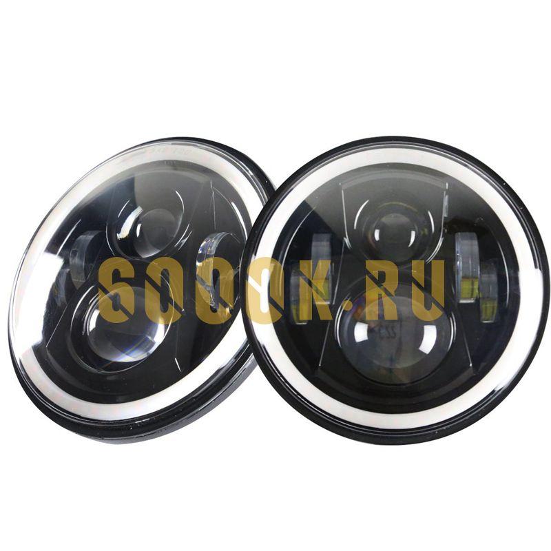 Светодиодные фары головного света 7 дюймов 140Вт с ДХО и поворотниками
