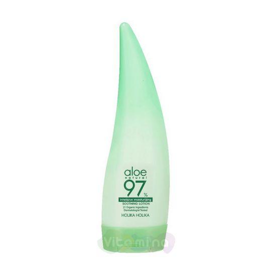 Holika Holika Увлажняющий лосьон для лица и тела с 97% экстрактом алоэ Aloe 97% Soothing Lotion Intensive Moisturizing, 240 мл