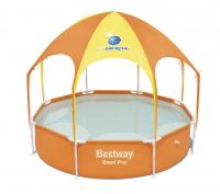 Каркасный бассейн с навесом BESTWAY 56432 (оранжевый)