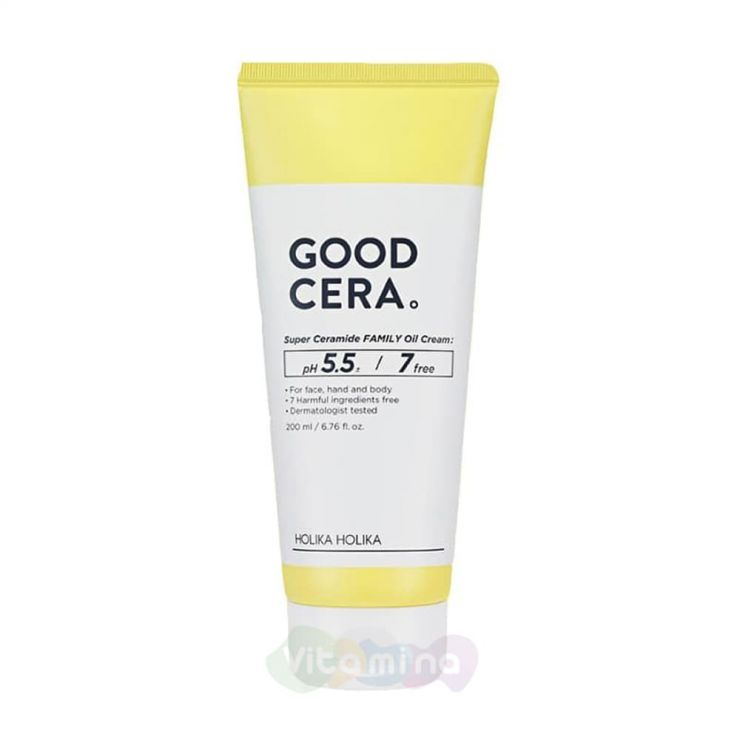 Holika Holika Универсальный крем для лица и тела Good Cera Super Ceramide Family Oil Cream, 200 мл