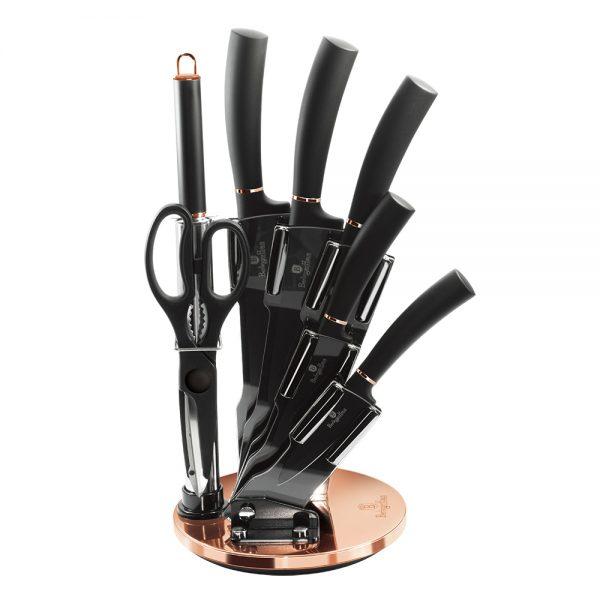 BH-2421 Black Rose Collection Набор ножей на подставке, 8пр.