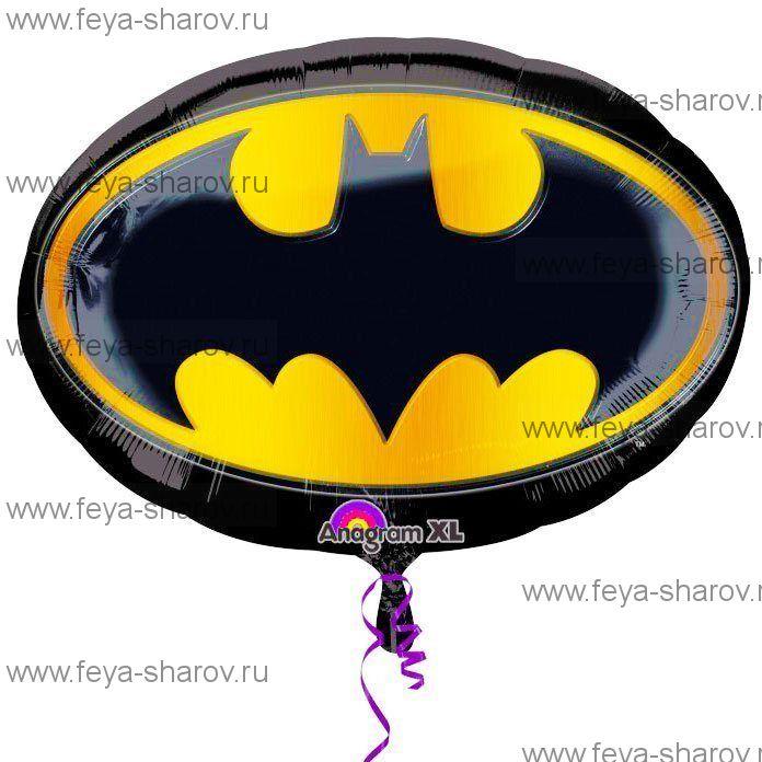 Шар Эмблема Бэтмена 89х66 см