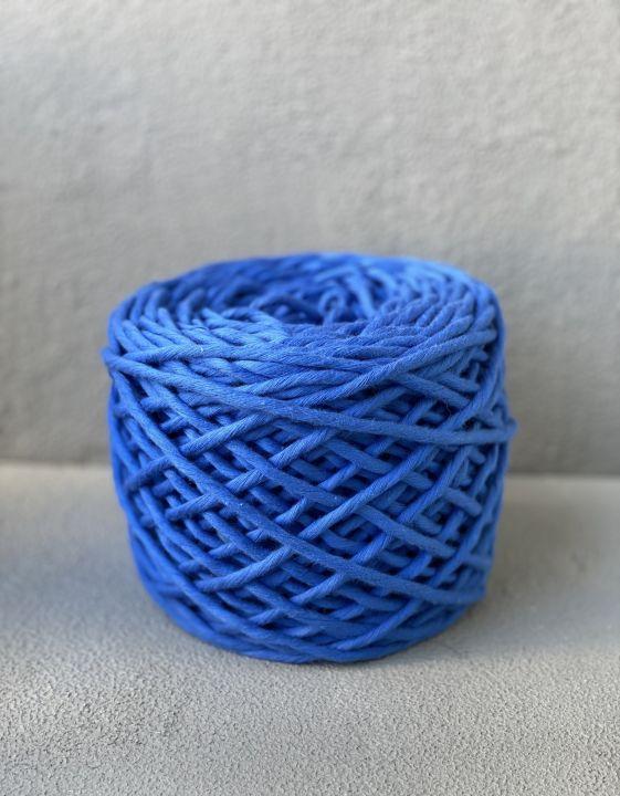 Хлопковый шпагат 5-6 мм Цвет синий