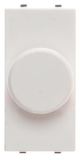 Диммер поворотный ABB Zenit альпийский белый 2CLA216010N1101