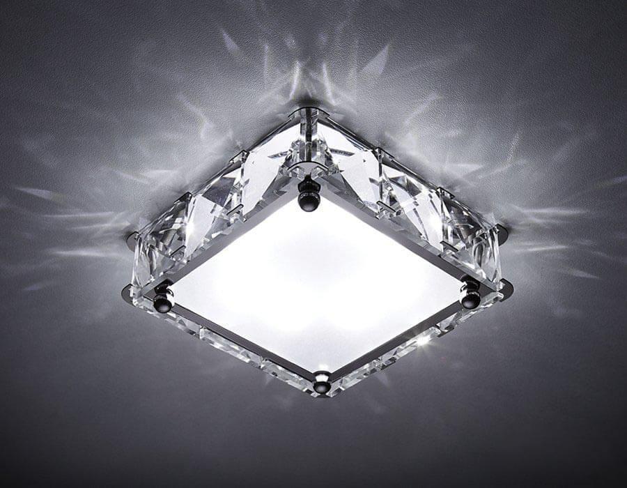 Встраиваемый светодиодный светильник Ambrella light Led S50 CH/W 4W 4200K LED